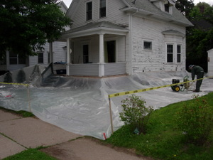 Drop cloth for Exterior House Painting